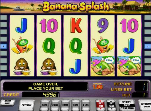 Automatycznie Banana Splash grać online dla pieniędzy