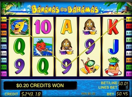 Bębny automatu Bananas go Bahamas