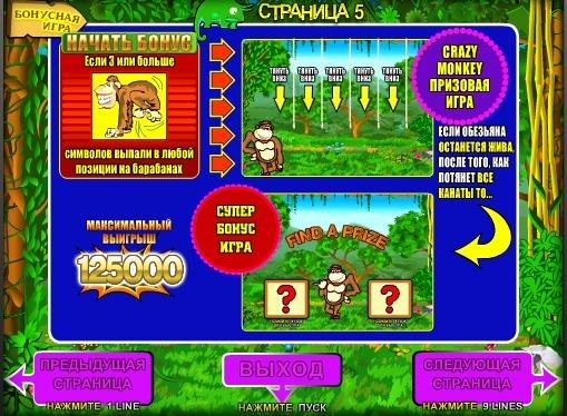 Bonusowa gra automatowa Crazy Monkey