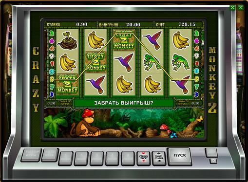 Upuszczenie gry bonusowej w Crazy Monkey 2
